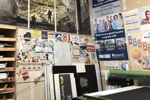 Gallery - see past print jobs done on a variety of materials!