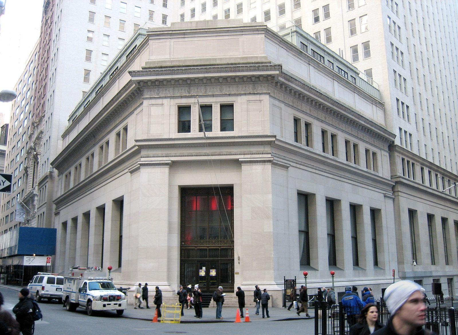JP Morgan Bank, Wall Street, New York