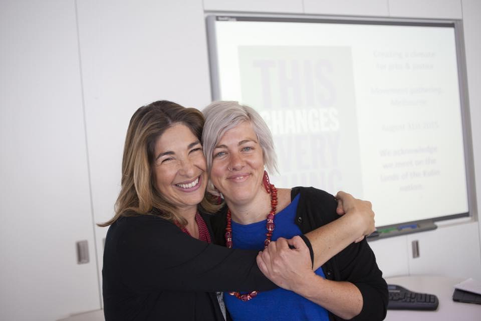 Alex Kelly with Naomi Klein