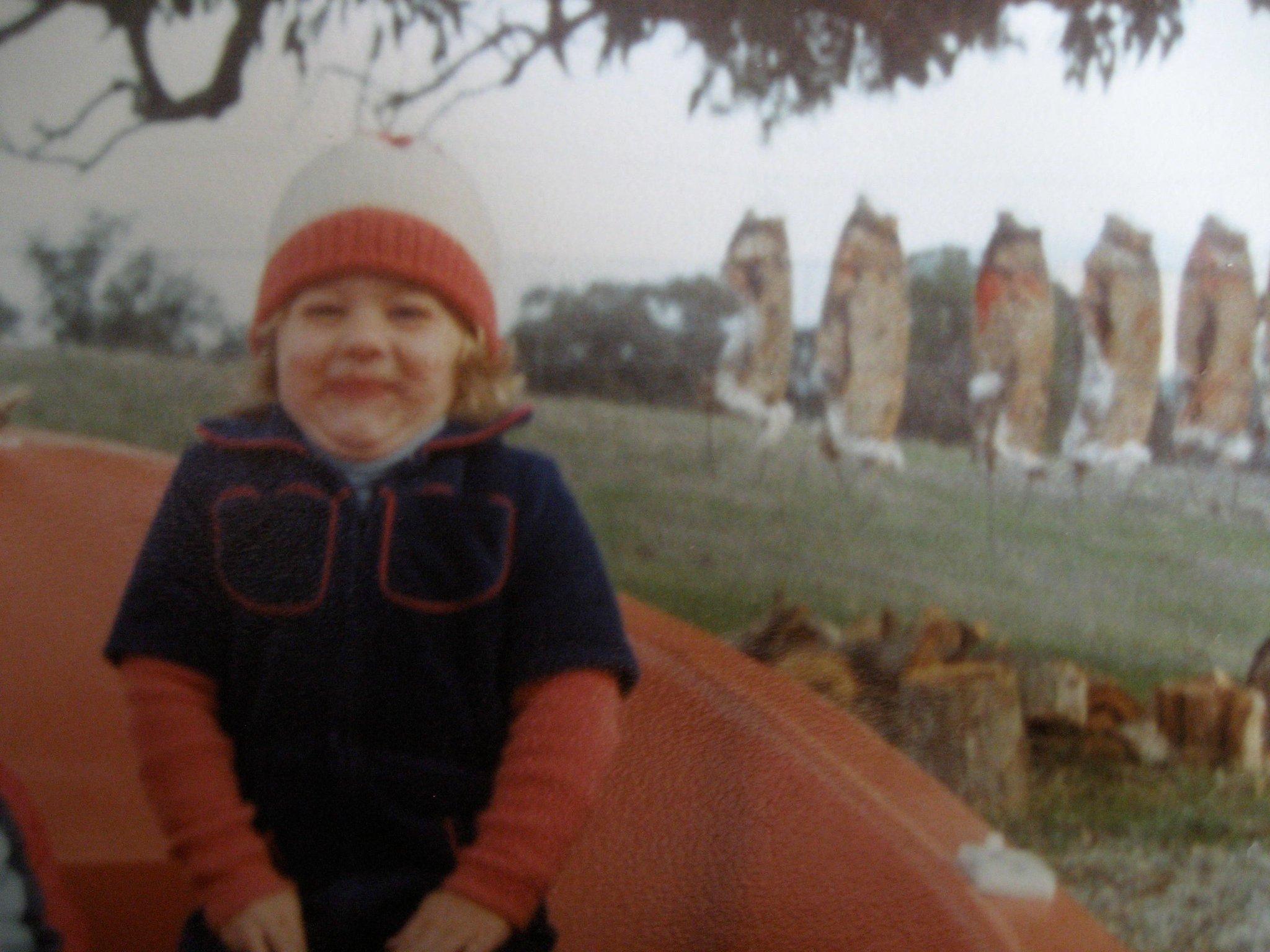 Alex on her family's farm