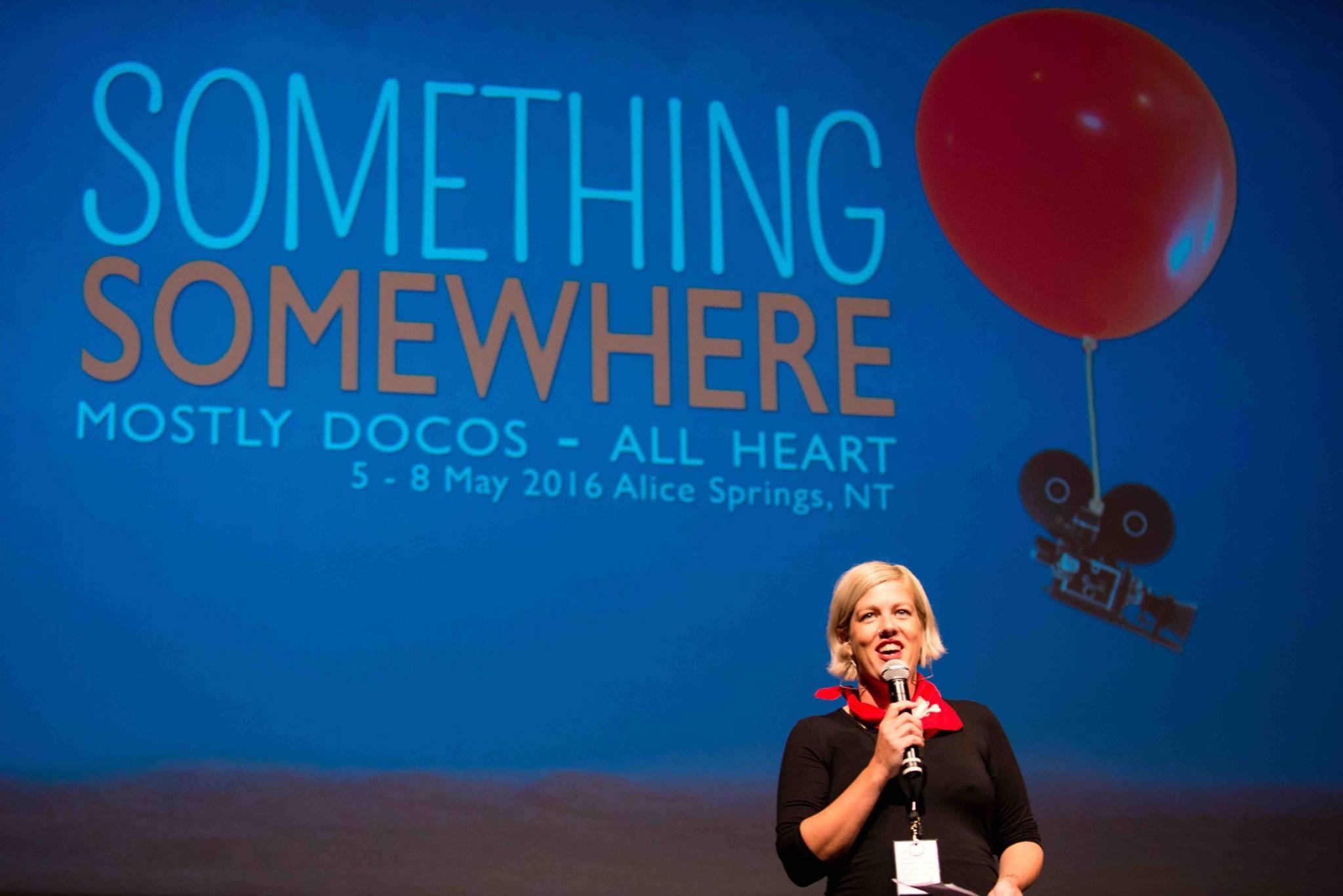 Alex Kelly, organizer of Something Somewhere film fest