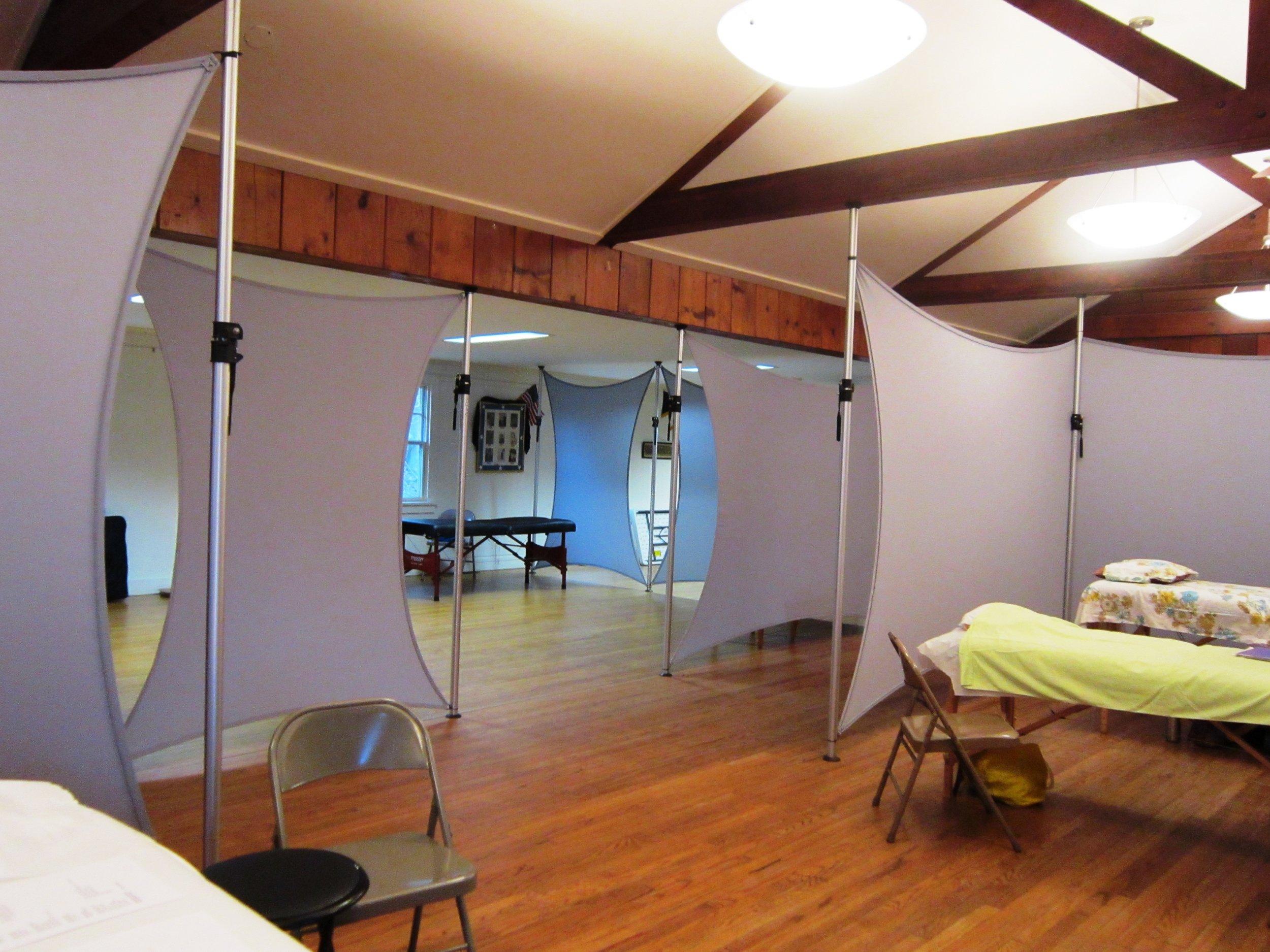 Holistic Health Center set-up at Marbletown Community Center