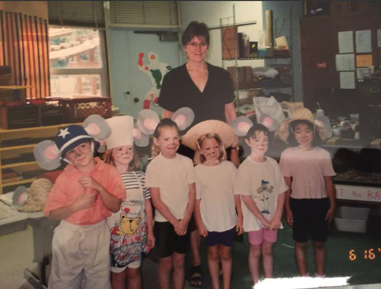 Cornelia teaching kindergarten