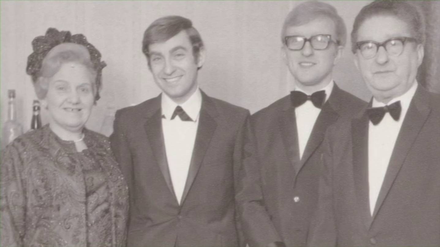Colin, second from left, with his mother, brother and father