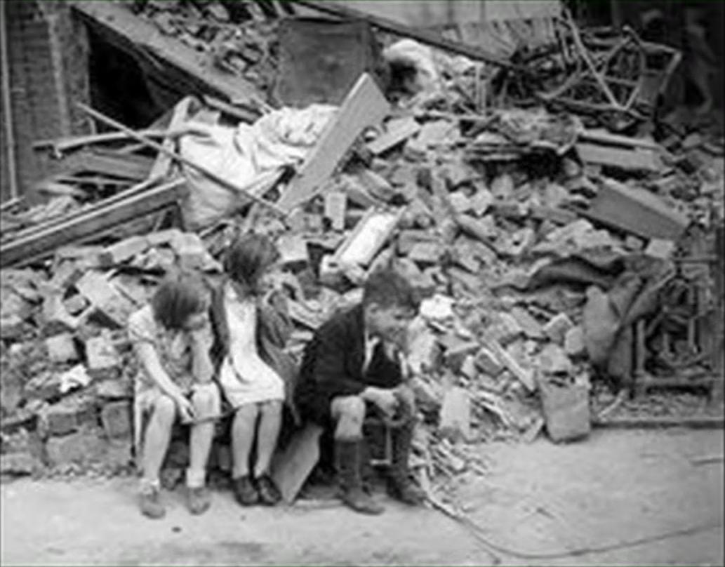 Children in bombed London
