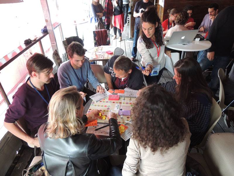 Co-opoly game play session at the OuiShare Festival in Paris