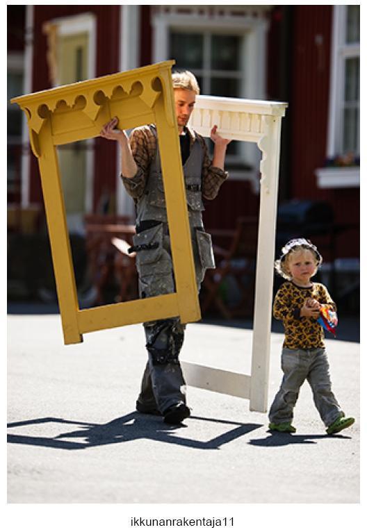 Juha with his custom-made window frames