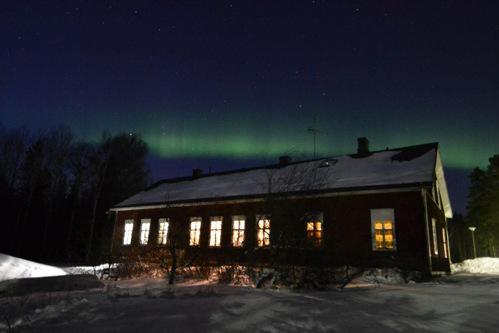 Juha lives in an old schoolhouse in Finland