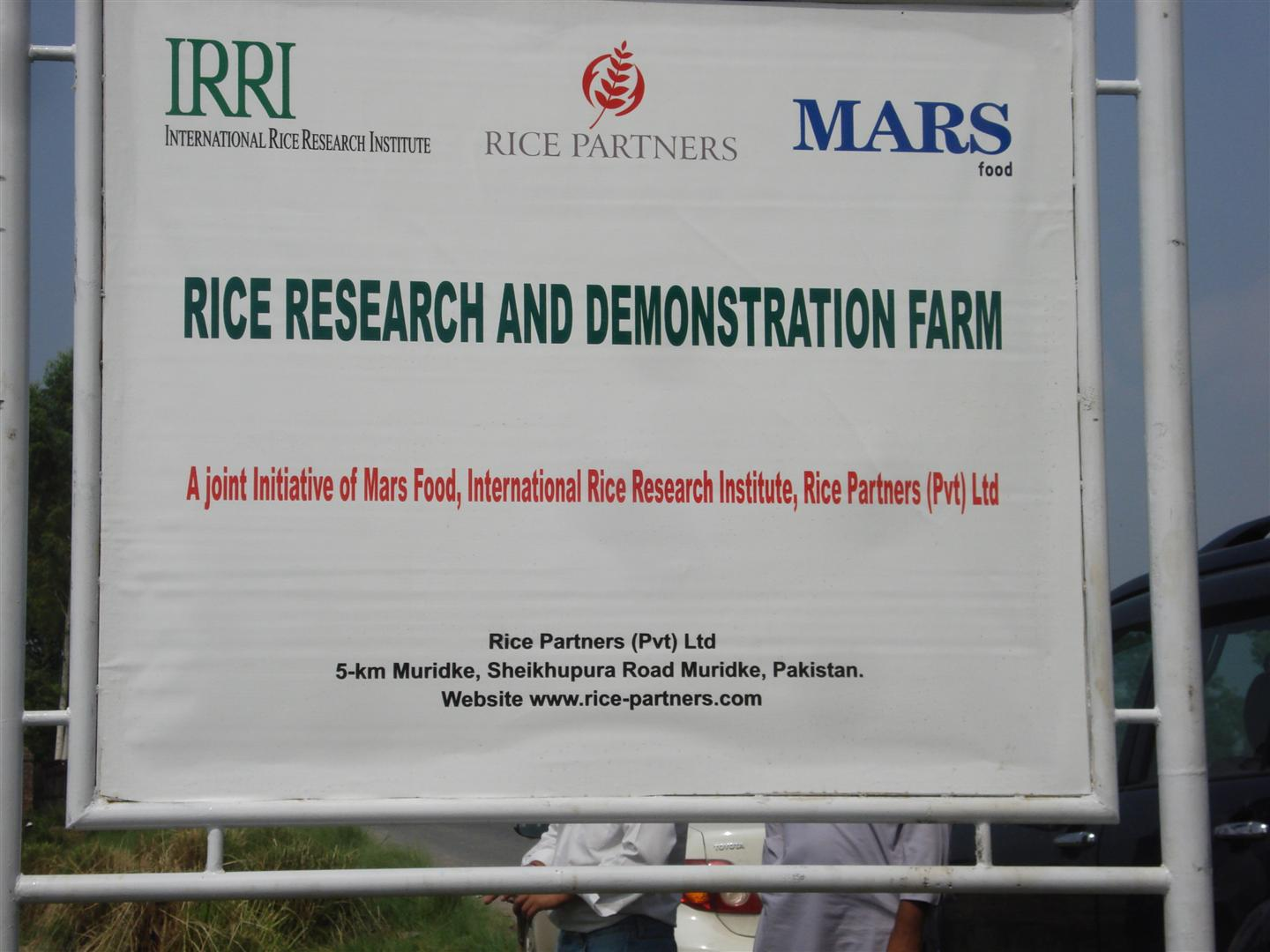 Mars sponsored Rice Research and Demo Farm