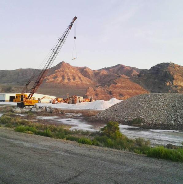 Intrepid Potash Mining at the Bonneville Salt Flats,Wendover, Utah.