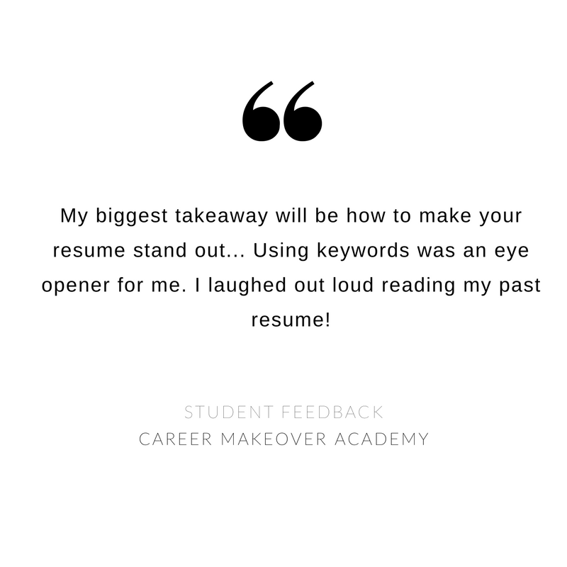 Career Makeover Academy - Student Feedback 4