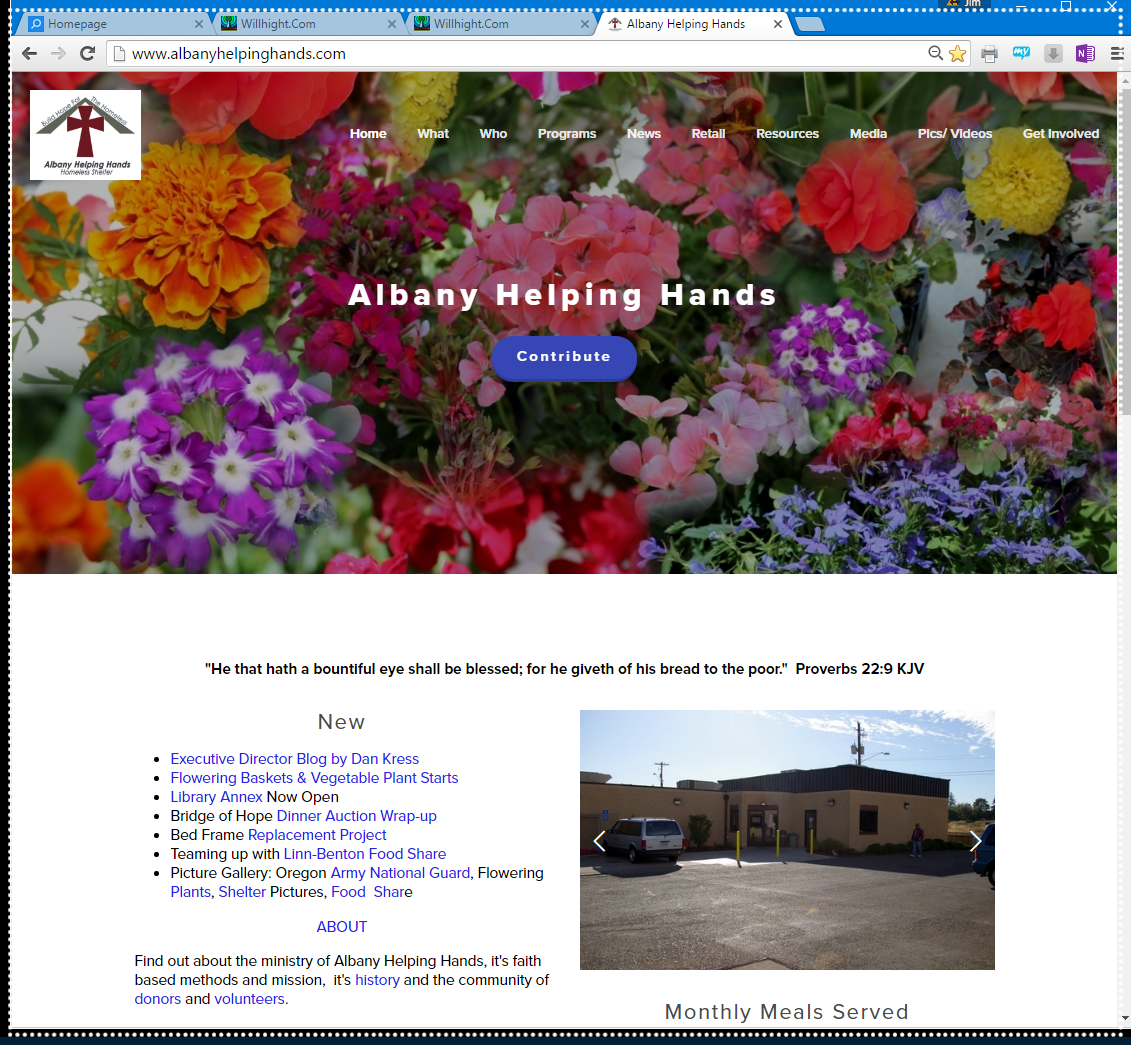 Sample of work:  AlbanyHelpingHands.com
