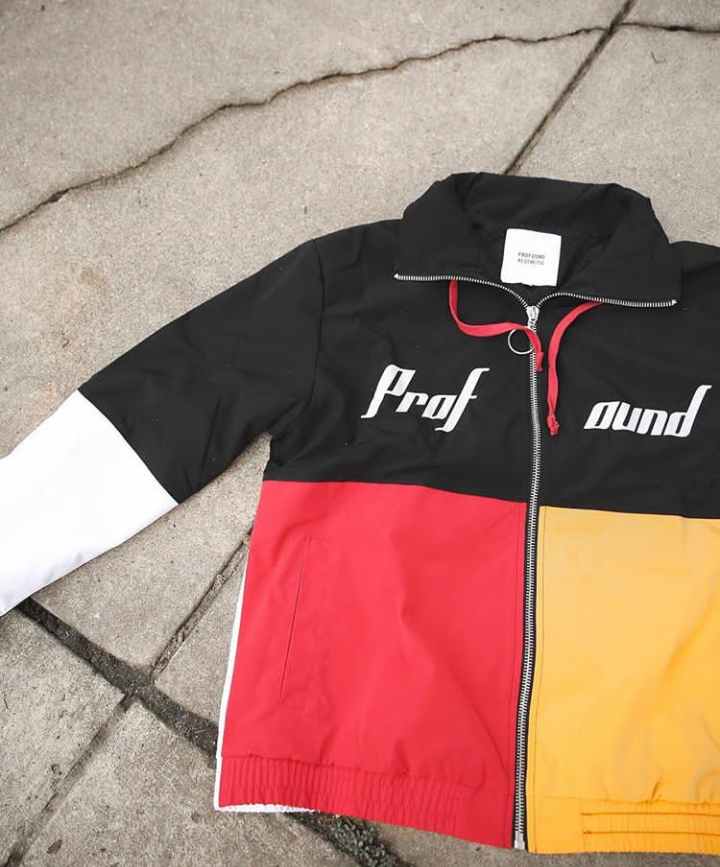 Three Tone Color Blocked Windbreaker Jacket by Profound Aesthetic $160