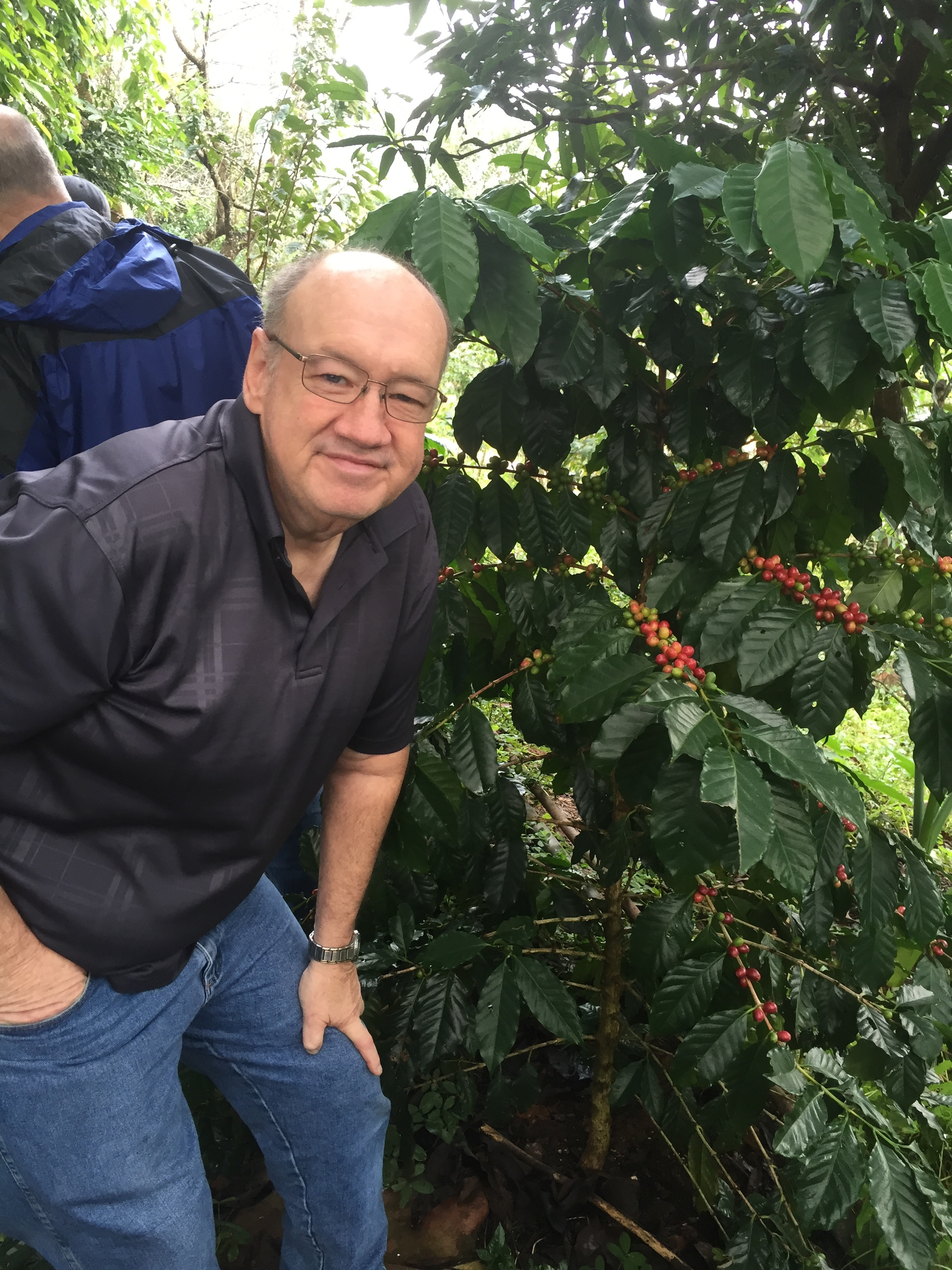 Donald in Guatemala for his roaster training courses.
