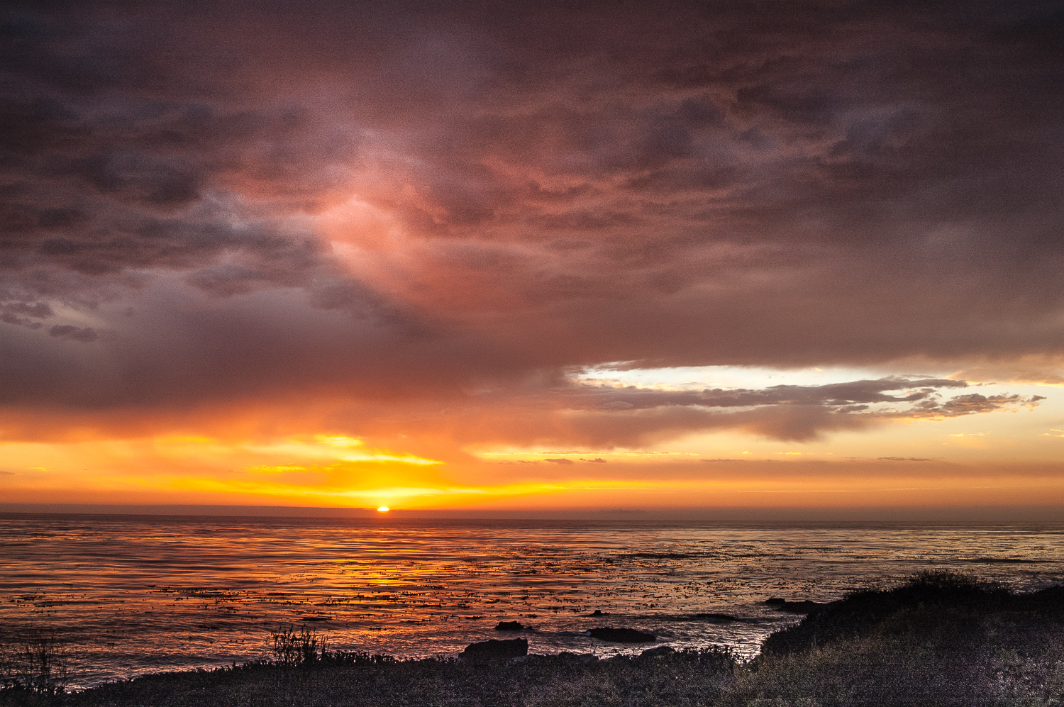 Sunset over the Pacific, Monterey, CA