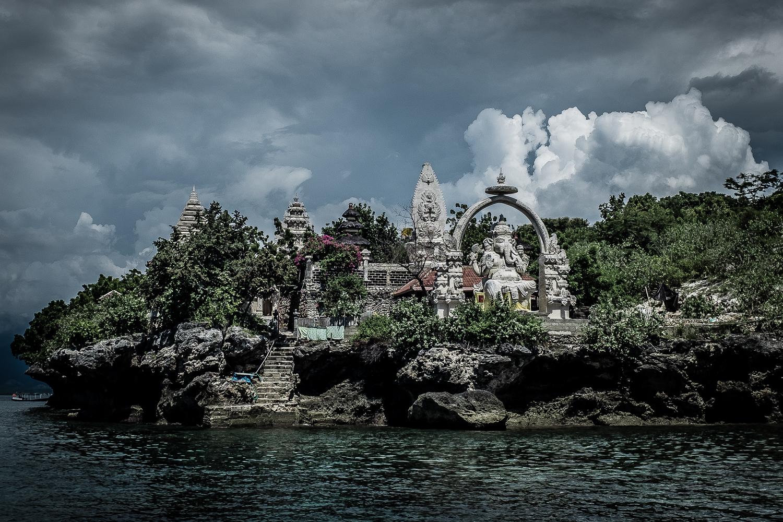 Temple of Ganesha, Menjangen Island, Bali, Indonesia