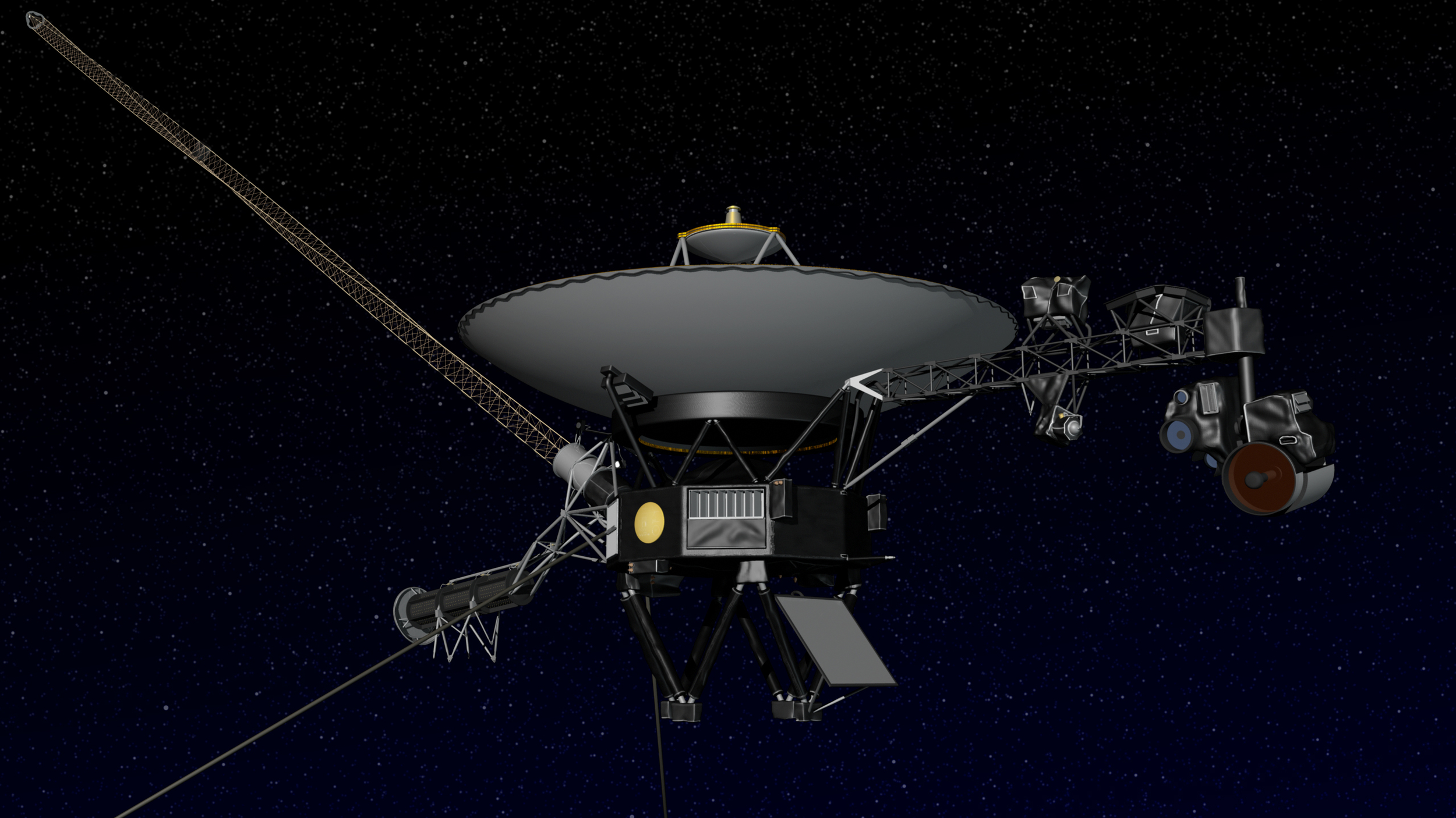 Artist concept of NASA's Voyager spacecraft. Image credit: NASA/JPL-Caltech