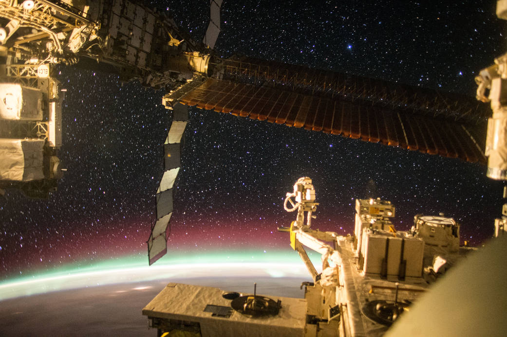 """JAXA astronaut Kimiya Yui captured this photograph from the Japanese Experiment Module (JEM) window on the International Space Station on Dec. 6, 2015. JEM, also called Kibo – which means """"hope"""" in Japanese – is Japan's first human space facility and enhances the unique research capabilities of the International Space Station. Image credit: NASA/JAXA"""