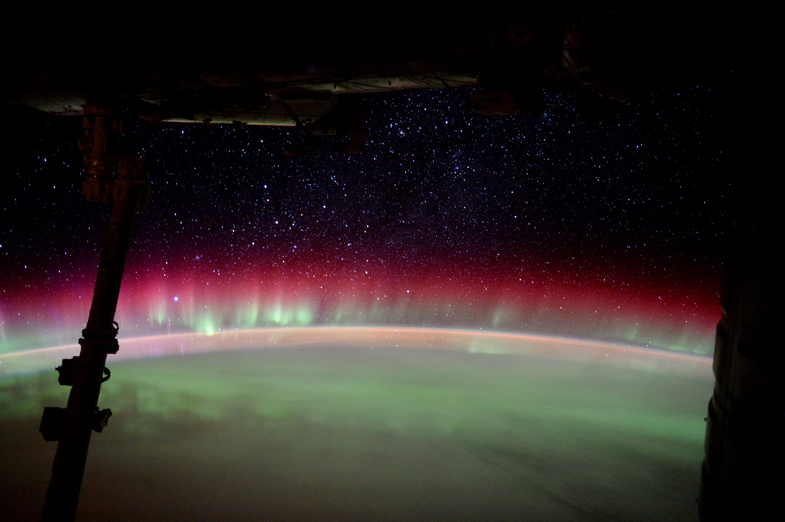 "ESA astronaut Tim Peake posted this stunning image on his social media channels, commenting: ""Station passed through magnificent aurora Australis last night."" Image credit: ESA/NASA CC BY-SA 3.0 IGO"