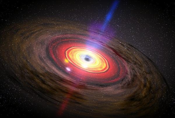 Artist concept of matter swirling around a black hole.  Image credit : NASA/Dana Berry/SkyWorks Digital