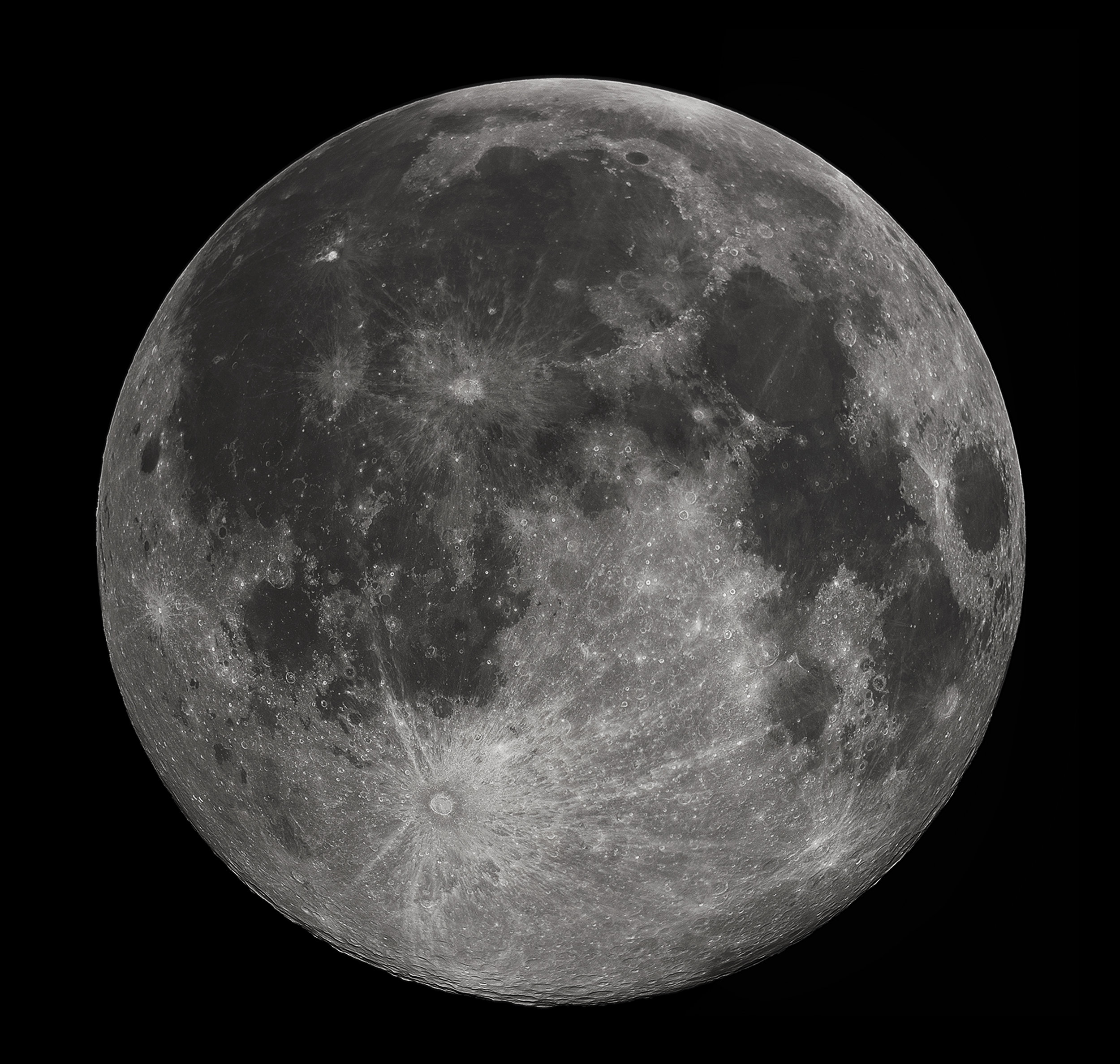 Full Moon photograph taken 10-22-2010 from Madison, Alabama, USA. Photographed with a Celestron 9.25 Schmidt-Cassegrain telescope. Image credit: Gregory H. Revera, CC BY A-SA 3.0