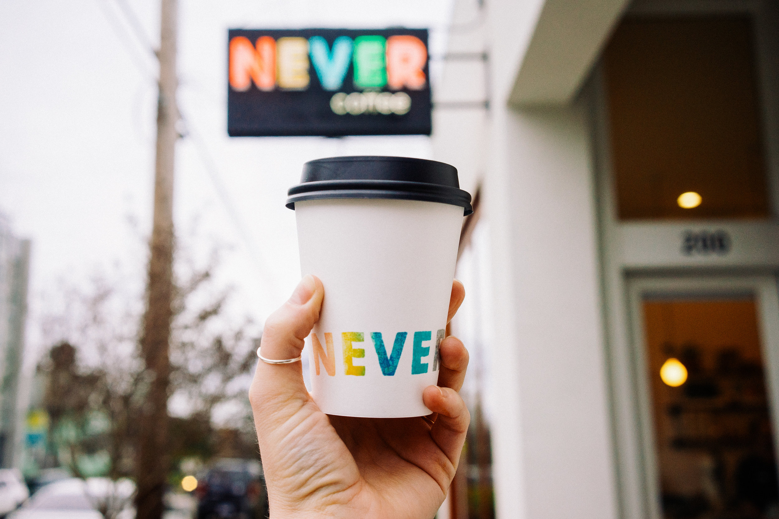 Never Coffee / brand design + art direction