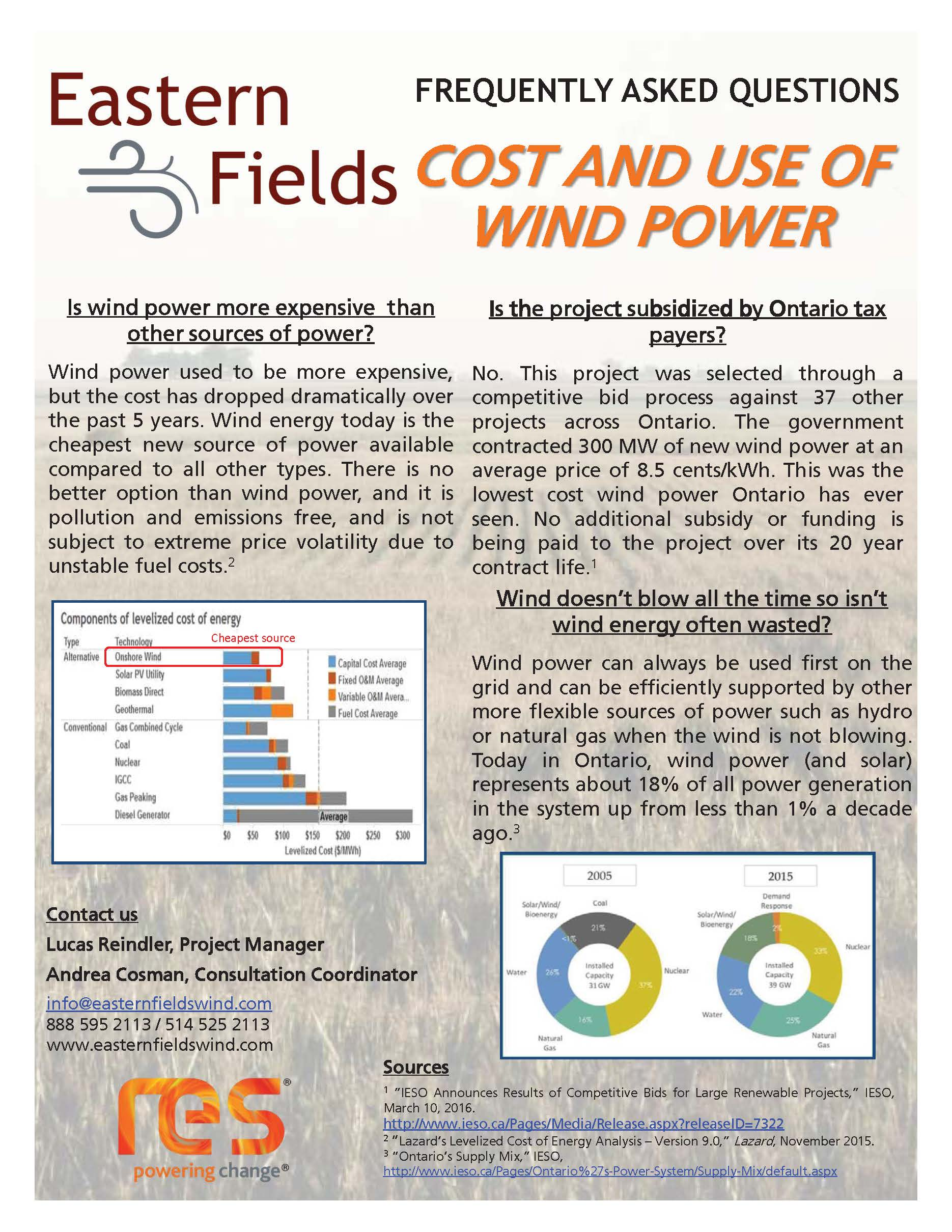 COST AND USE OF POWER