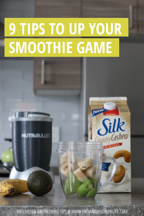 9 Tips to Up Your Smoothie Game | Brown Girl Green Life : Smoothies are always a good idea when it comes to eating healthy. In recent years, I've experimented with ways to increase the health benefits of my smoothies without compromising on flavor and yumminess. Are you ready to take your smoothie game to the next level? Click through to read my tips on how to make your smoothies healthier and tastier.