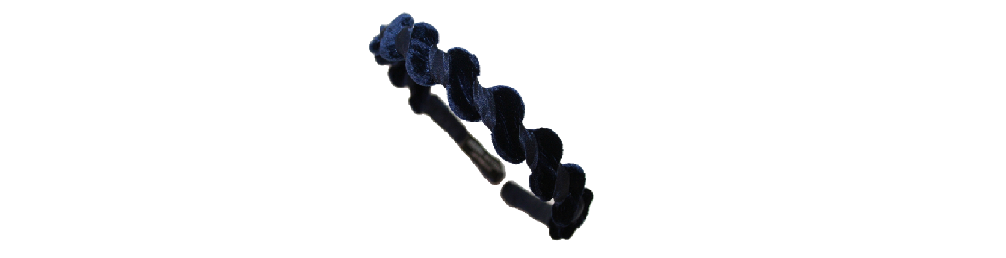 This is our 'Signature' zig zag headband and here I am showing you how easy it is to wear, flexible, and very comfortable for every day.  You can find it here  http://www.reneerivera.com/couture/velvet-zig-zag-headband-navy?category=Headbands