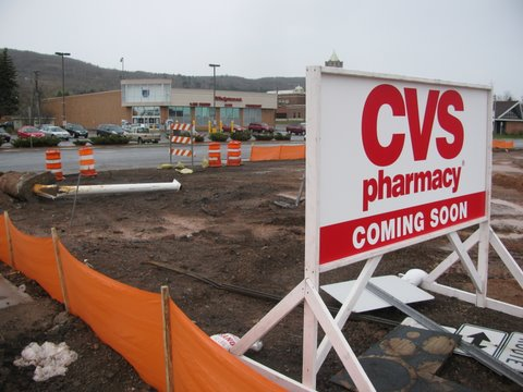 Walgreens with CVS coming in across the street. Easy access is important to shoppers.