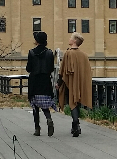Two Gendstirs in NYC on the High Line - both are boys but could you tell that from the back?