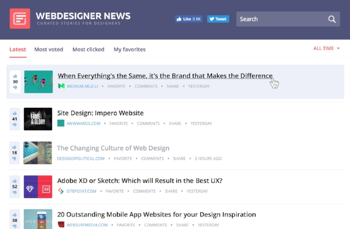 Webdesigner news is treasure chest of quality content – focused on the impact of design across all industries and their brands.