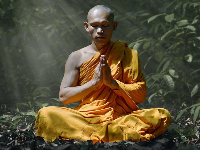 Meditating monk +