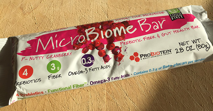 New MicroBiome Bar, with probiotic fueling prebiotics, seeks to make our guts even healthier.