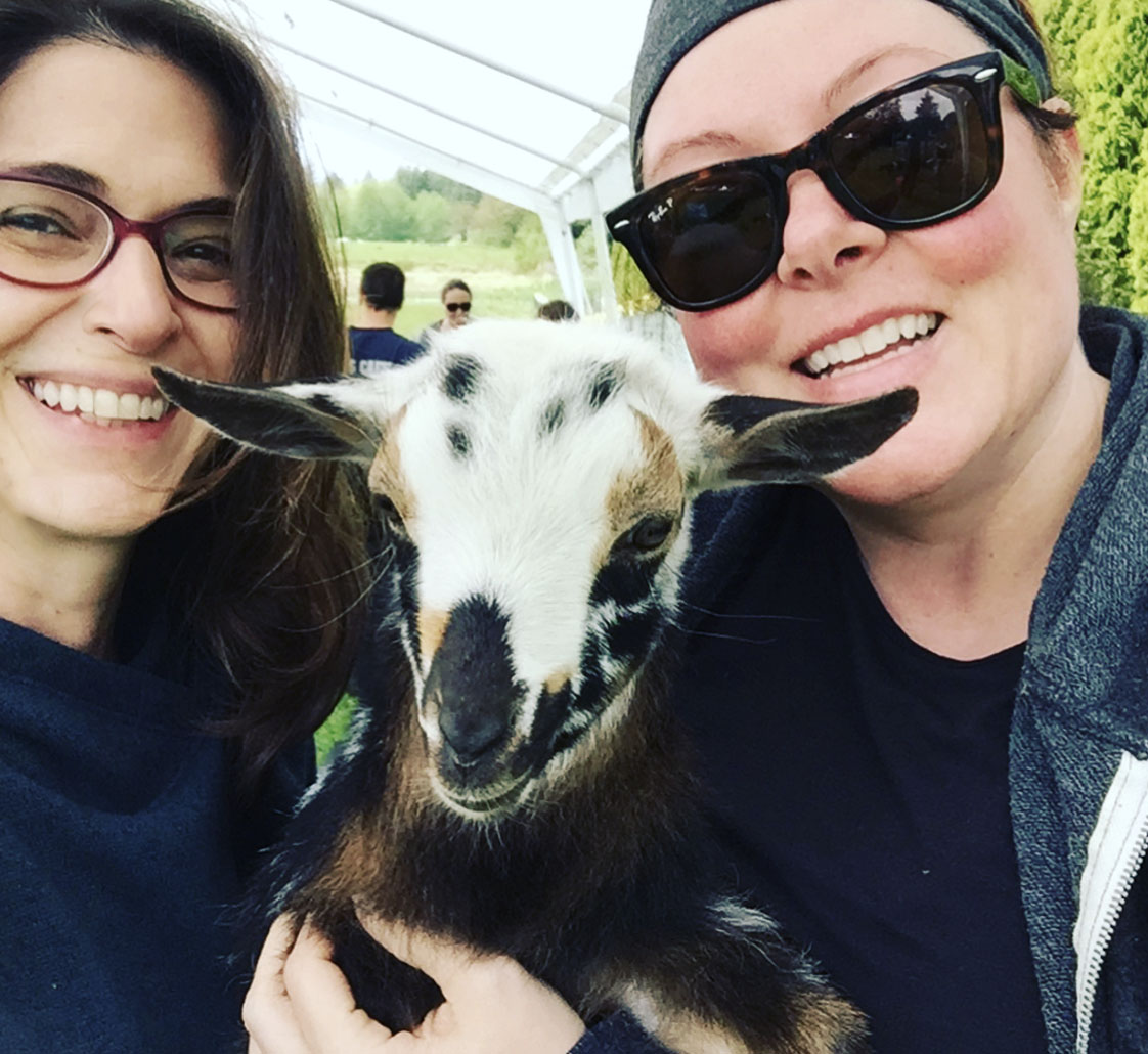 Lisa, me and the goat inspiration behind it all!