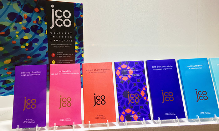 J CoCo chocolates gorgeous new package - but what exactly is inside?