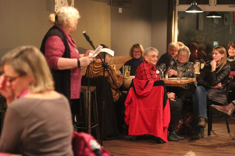 Sandra Kleven reads at The Cookery in Seward, Alaska