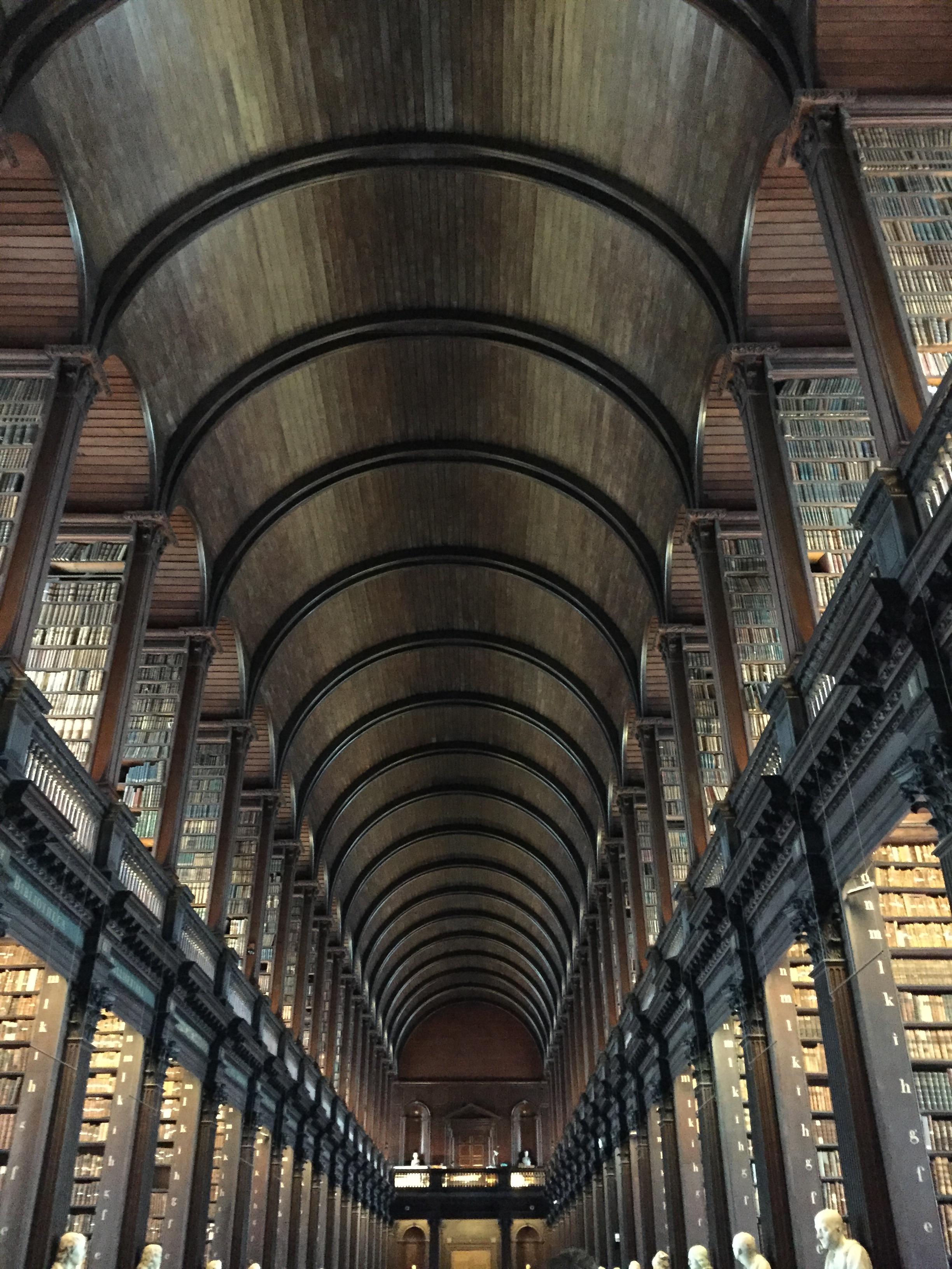 The Long Room at Trinity Library, Dublin