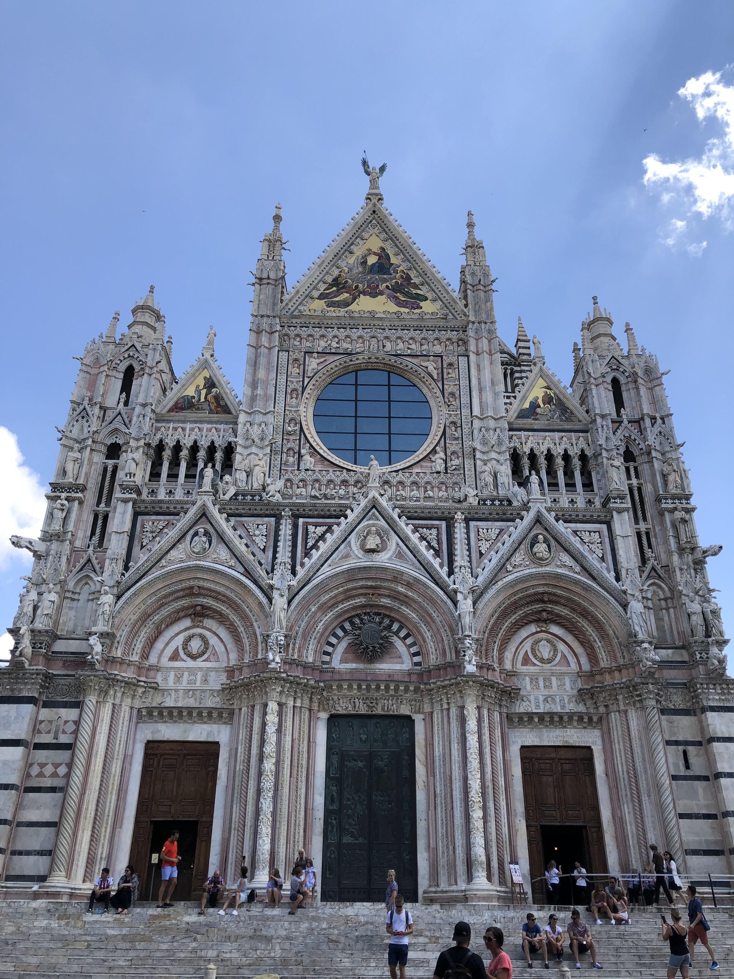 The back side of the Siena Cathedral