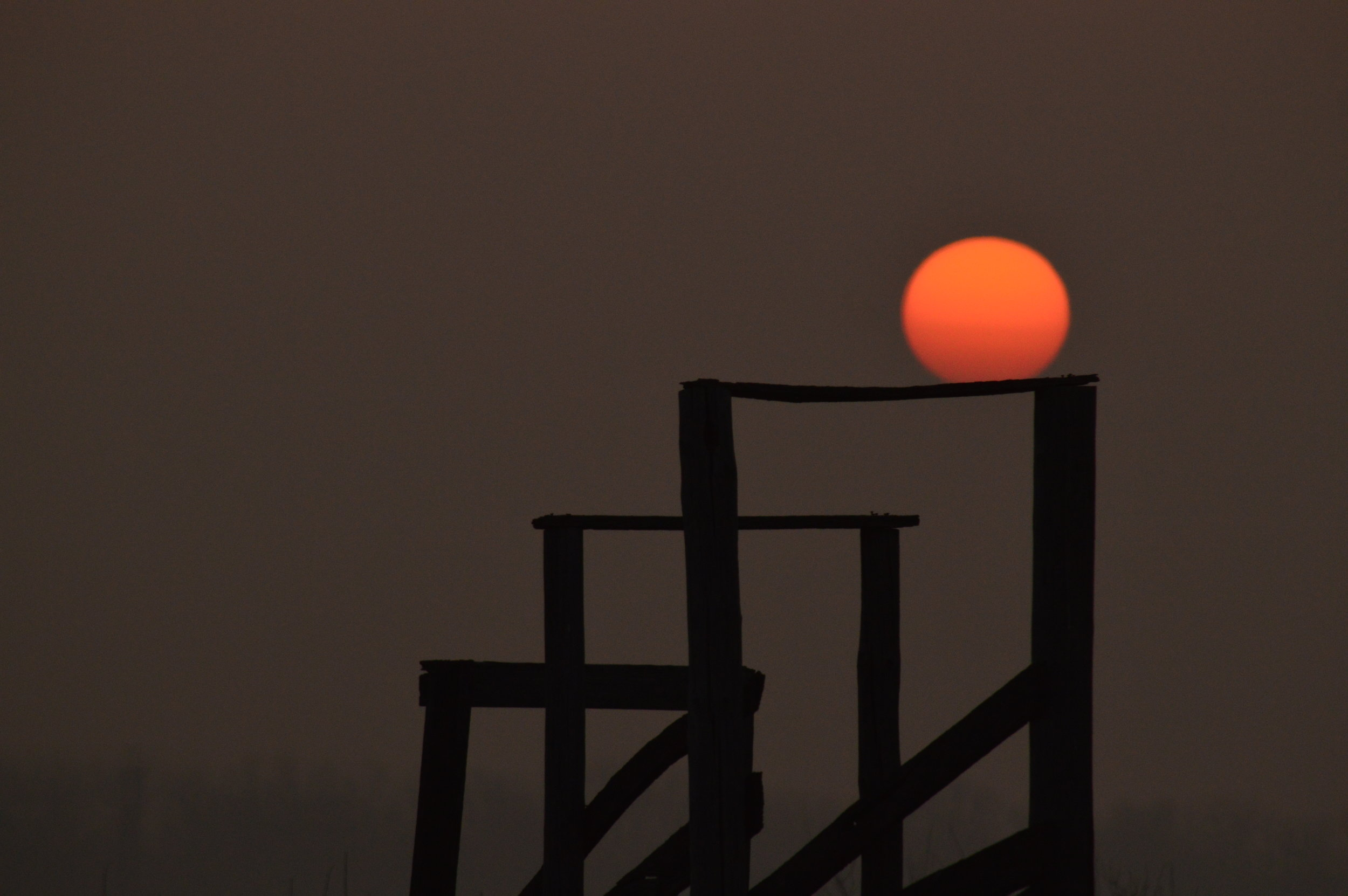 Sunrise over an old cattle corral. Photo credit: Kareen King