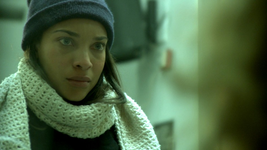 Nia as 'Dawn' in the film,    The Roe Effect