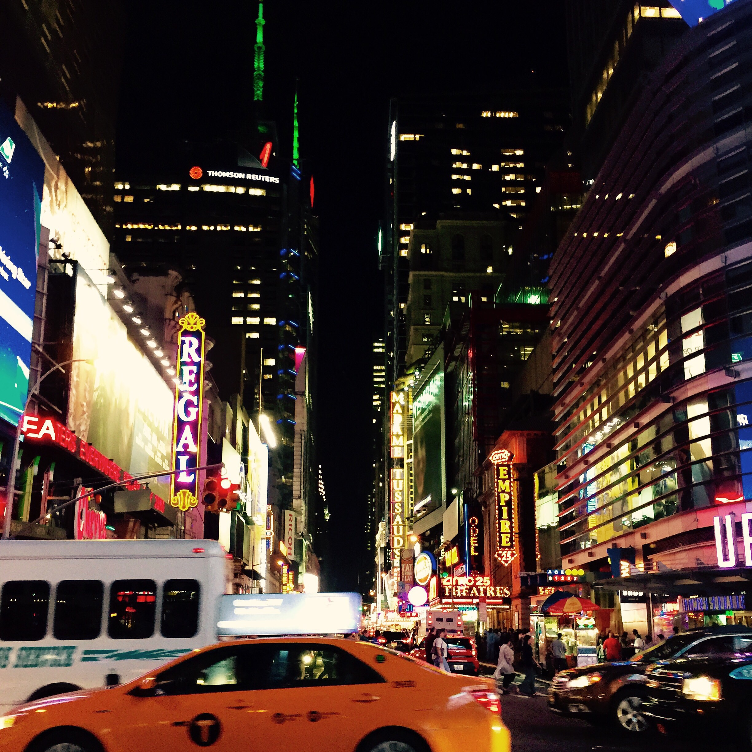 """""""The lights are so bright but they never blind me."""" / New York"""