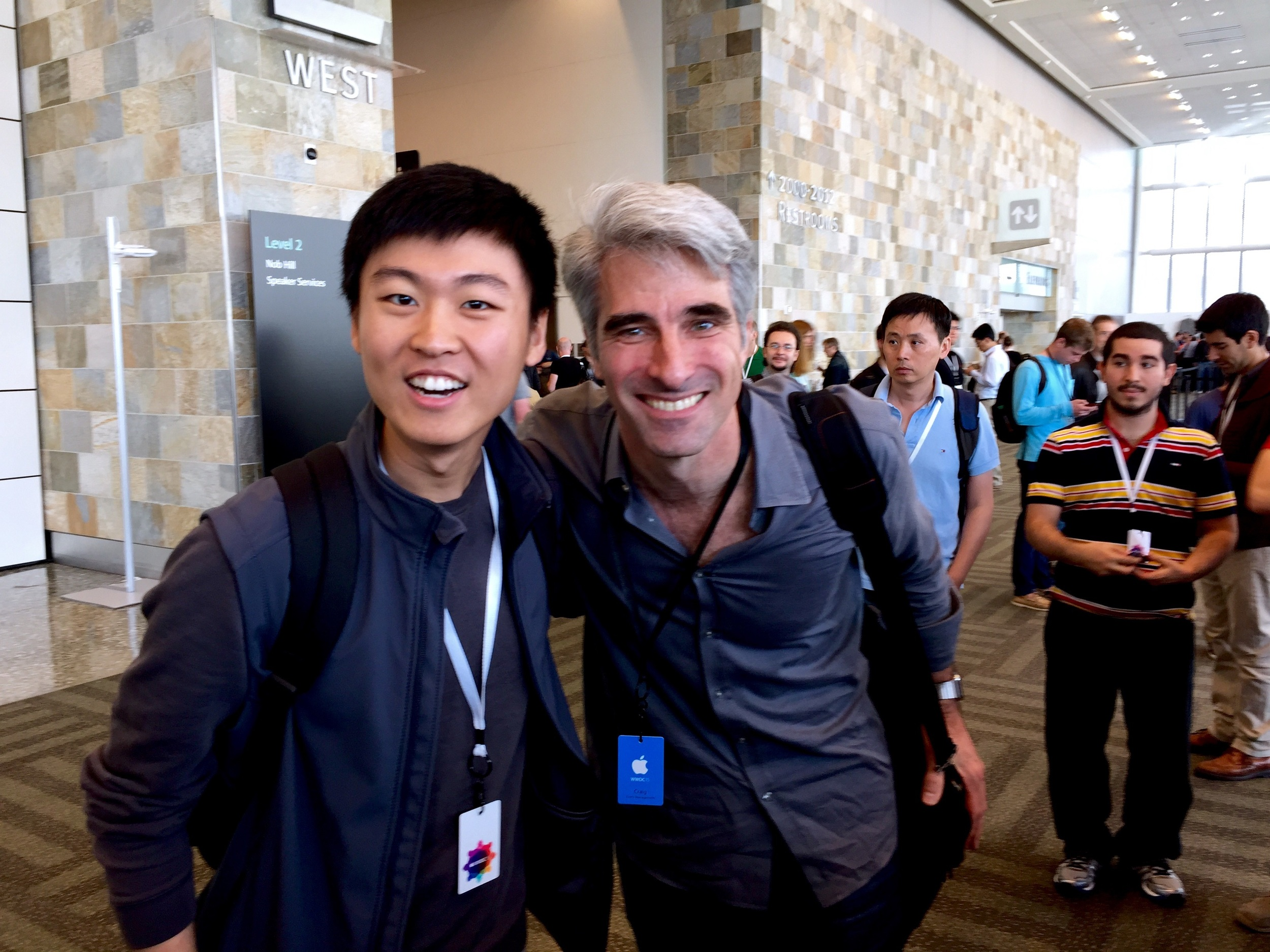 Clarence & Craig Federighi (Apple's senior VP of Software Engineering)