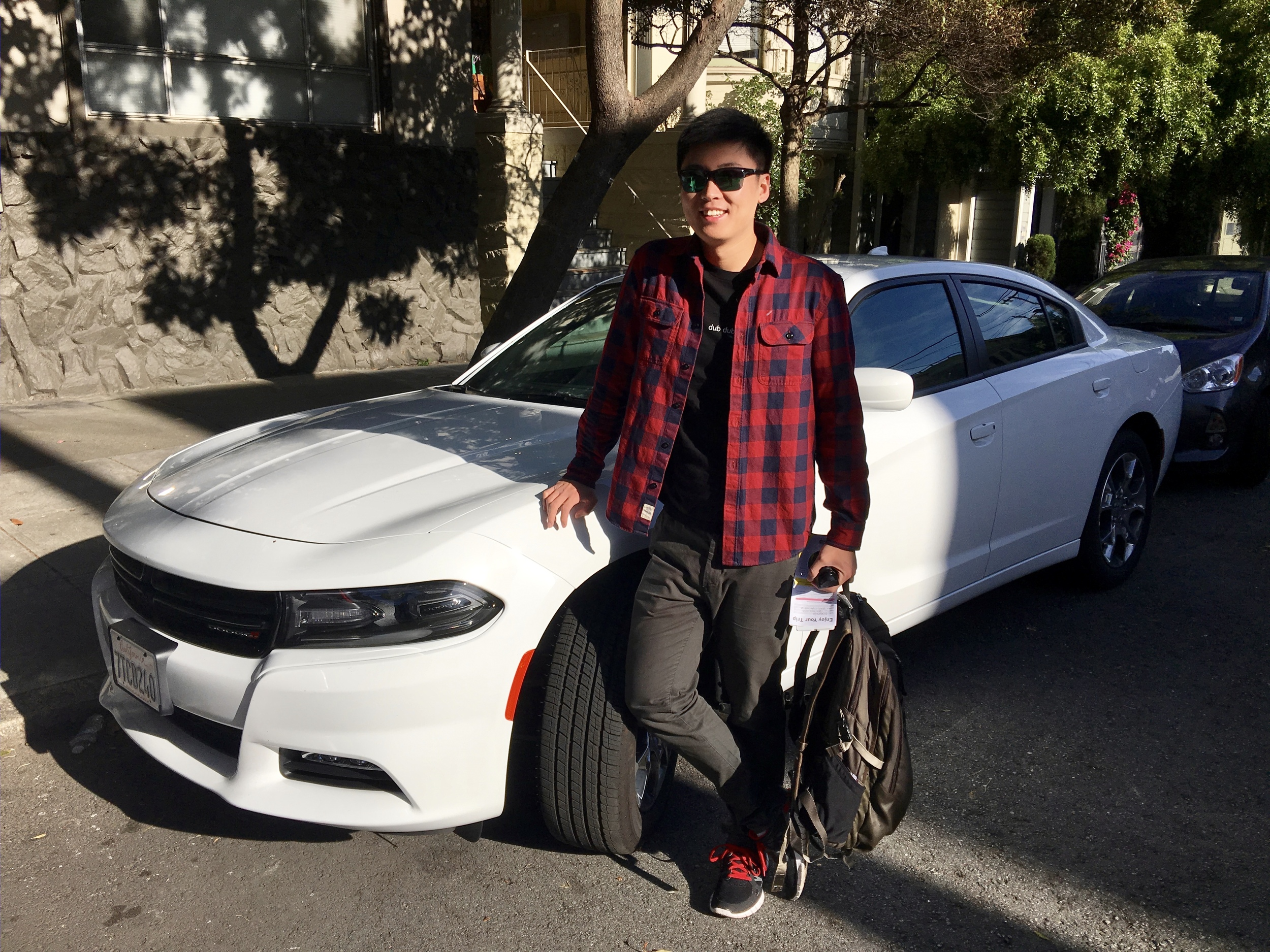 Me and the rented Dodge Charger