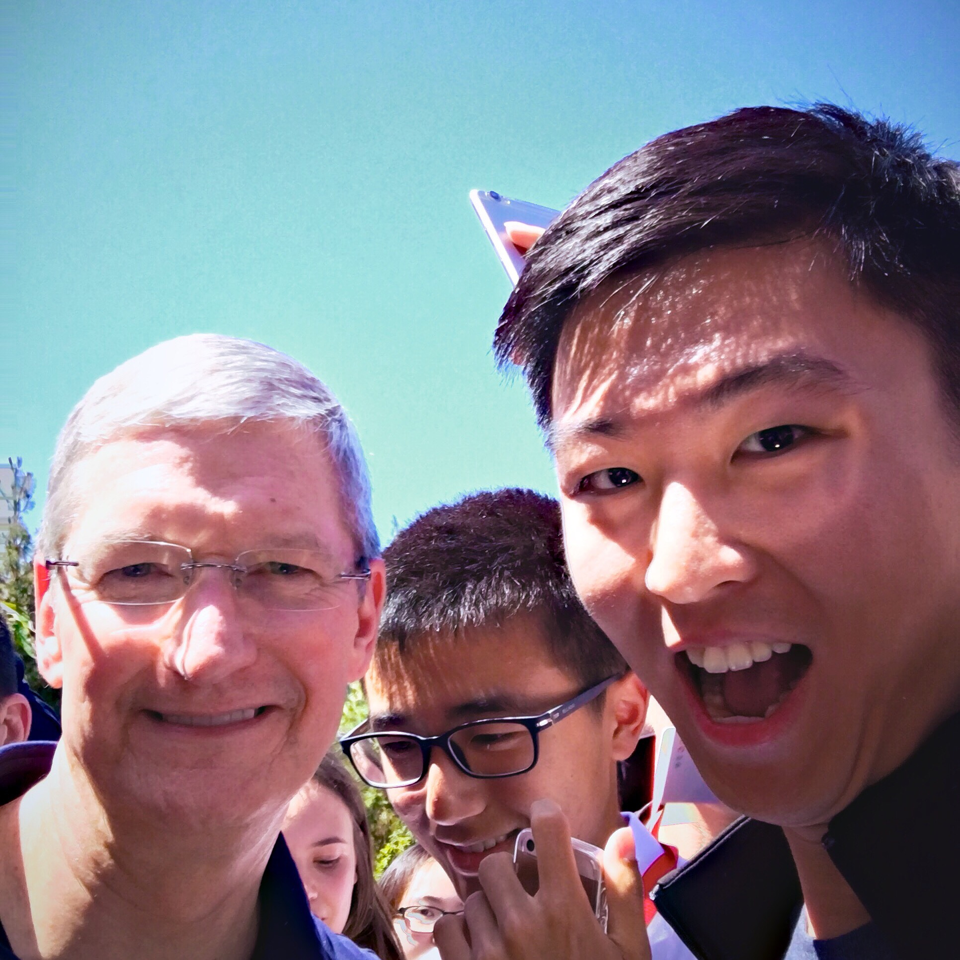 Selfie with Tim Cook
