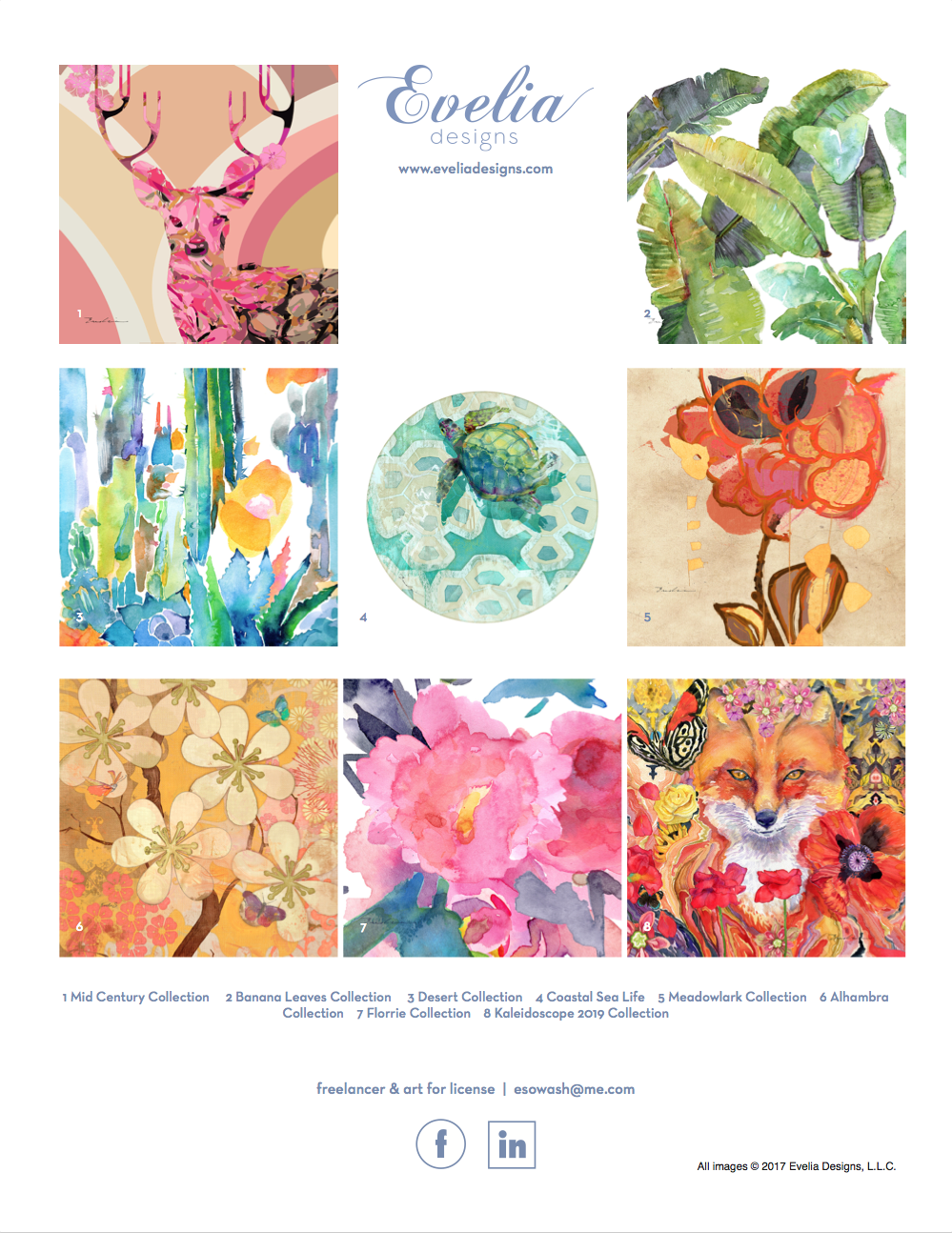 Evelia designs' artwork can be formatted to any product. - download pdf one sheet