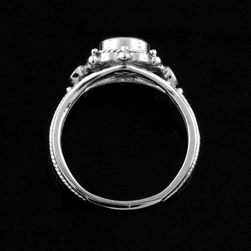 Victorian+Style+Round+Bezel+Set+Aquamarine+Stone+And+Diamonds+Engagement+Ring+14k+White+Gold+2.jpg