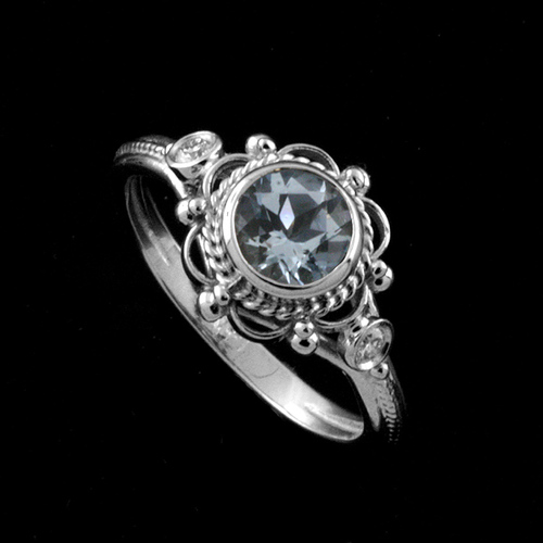 Victorian+Style+Round+Bezel+Set+Aquamarine+Stone+And+Diamonds+Engagement+Ring+14k+White+Gold+7.jpg