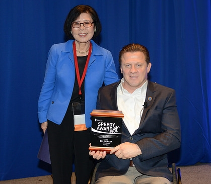 """Dr. Jai Park received the Speedy award in 2016, which is given as """"the highest honor bestowed by the Paralyzed Veterans of America and is presented in recognition of significant contributions to improving the lives of America's paralyzed veterans."""""""
