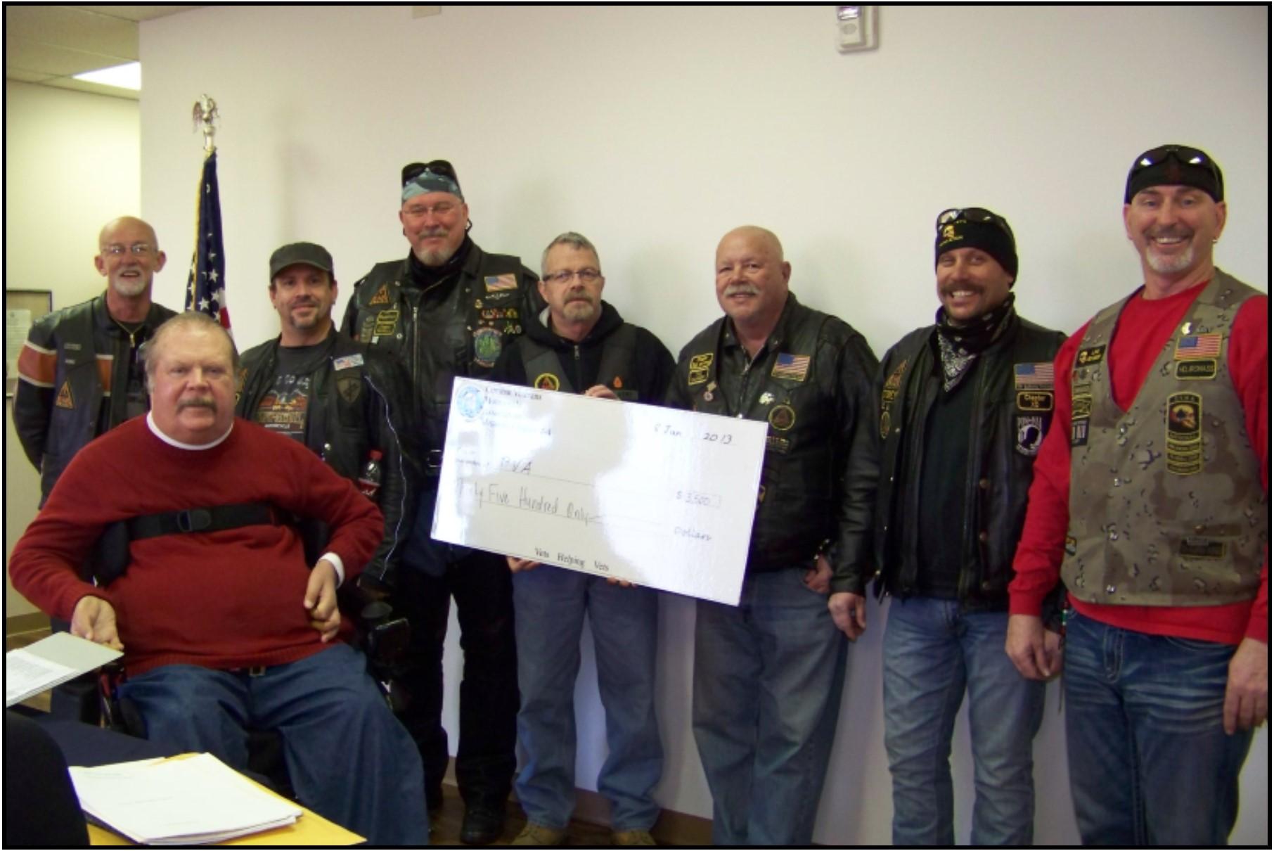 Combat Vets 2013 donation from Sept 2012 All Patriots Run.JPG